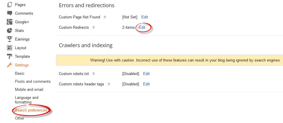 How To Set Custom Redirect URL in Blogger Blogs