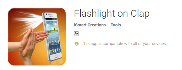Flashlight On Clap Best Android PHone