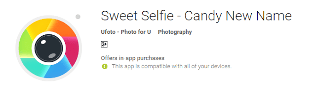 Sweet Selfie - Candy New Name the cool android app