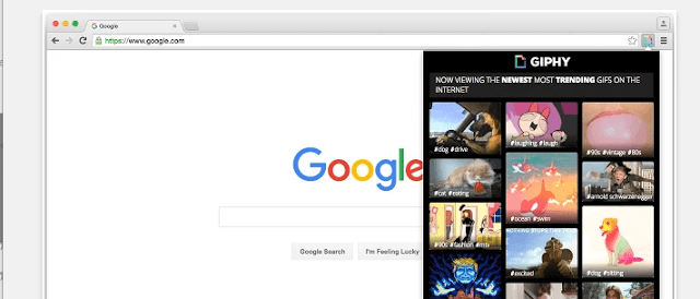 image of giphy best google chrome extensions