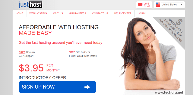 image of justhost best web hosting in the world