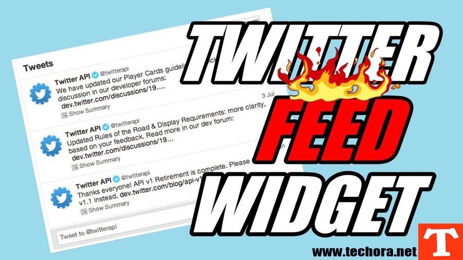 how to add twitter widget to website