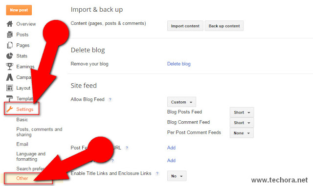 image of import blogger blog of how to backup or restore blogger blog posts and template