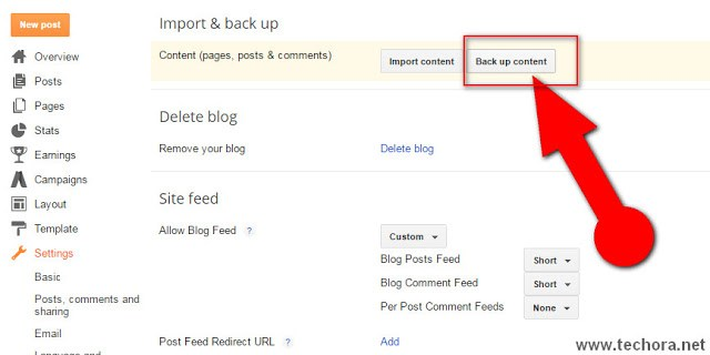 image of how to backup or restore blogger blog posts and template
