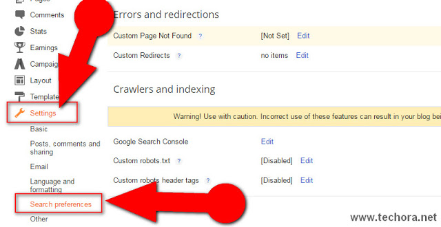 image about how to add custom robots.txt file in blogger blogs