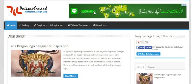 Design Crazed the best website to download the free blogger templates