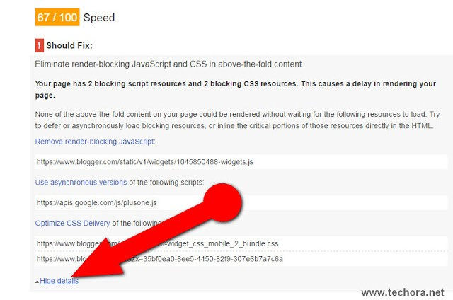 PageSpeed Insights By google to check website speed test and performance and how to fix it
