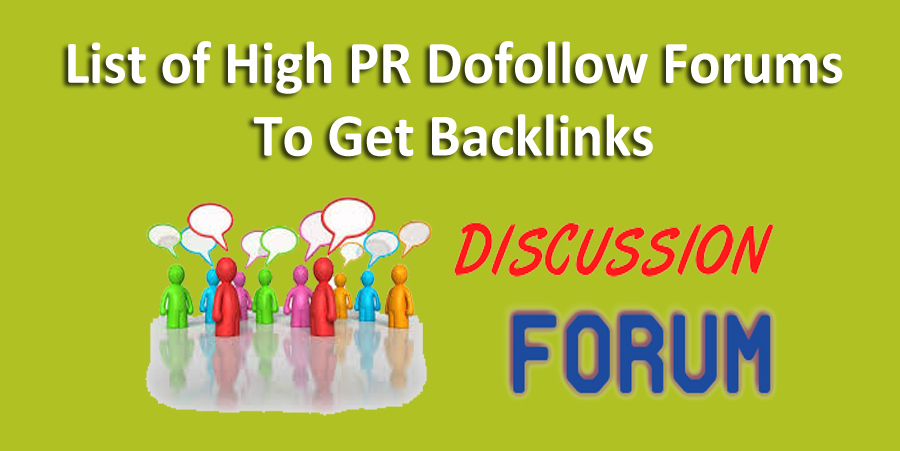 image : high PR dofollow best forums sites to get quality backlinks