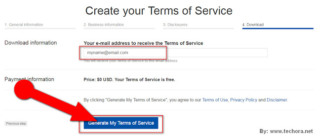 image of how to create a website terms of service page for your business