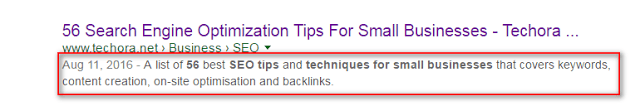 image : on page SEO factors to optimize your meta tag description