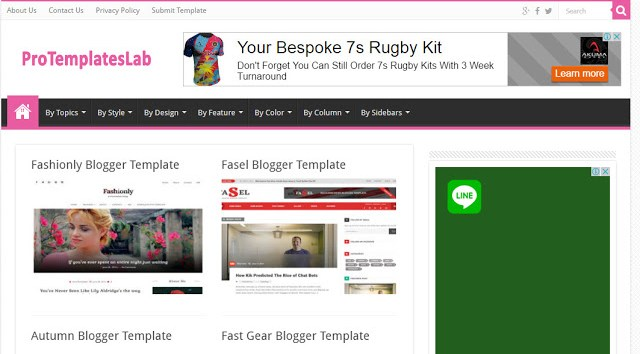 Protemplateslab the best website to download free blogger templates