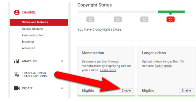 image: Enable YouTube monetization to make money online