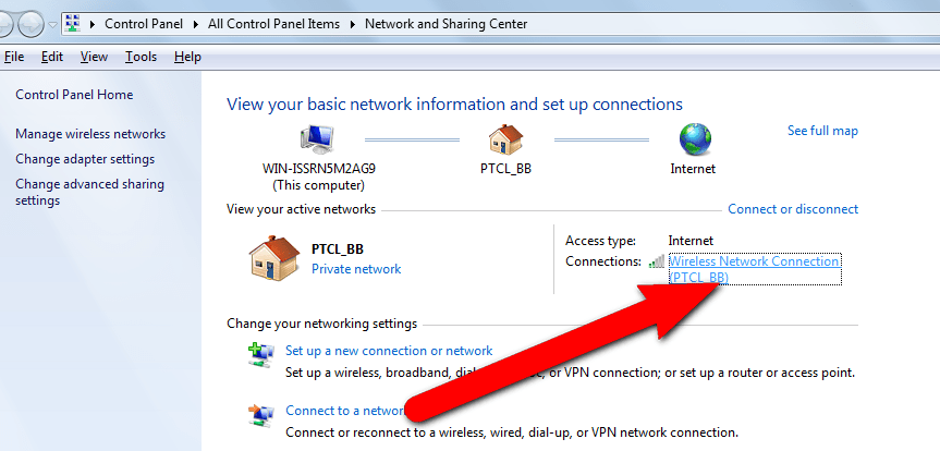 how to find my wifi password on windows xp