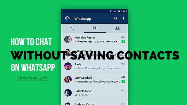 How to Chat With Anyone Without Saving as a Contact on WhatsApp