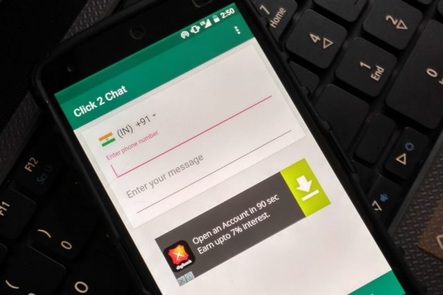 chat with anyone without saving as a contact on WhatsApp