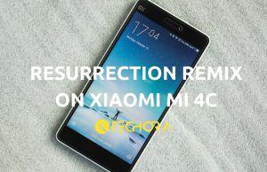Resurrection Remix OS on Xiaomi Mi 4c