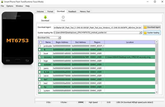 smartphone-flash-tool-runtime-trace-mode-download