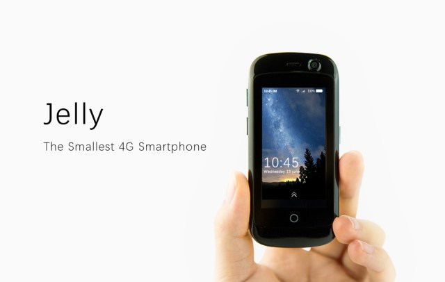 Jelly, The smallest 4G smartphone powered by Android Nougat