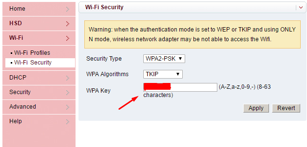 how to know the network password