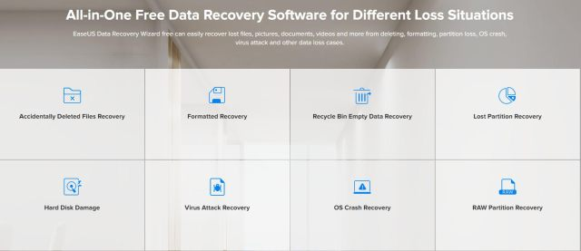 EaseUS Data Recovery Wizard Easy to recover lost data
