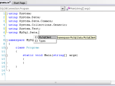 MySQL Database with C#