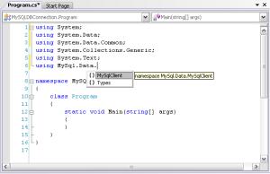 MySQL Database with C#