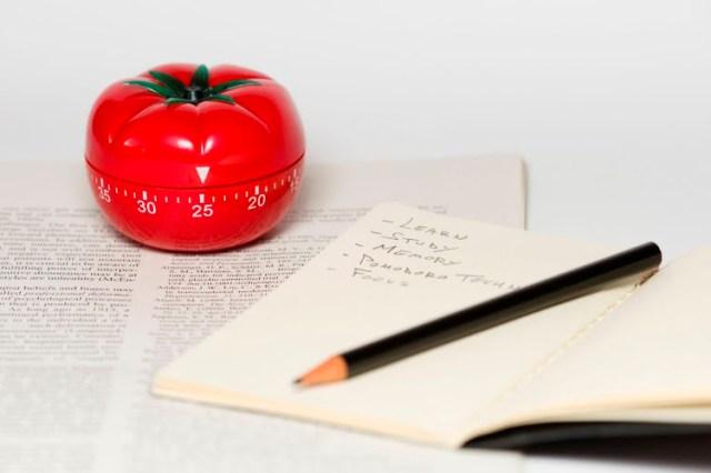 pomodoro timer - writing skills