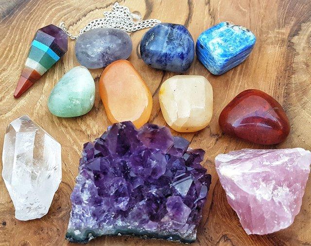 chakras and crystals