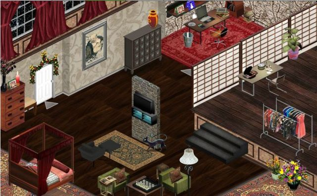 How to decorate an apartment in Facebook's Yoville Game