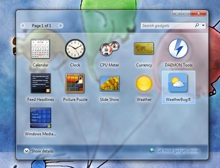 Windows Sidebar Box