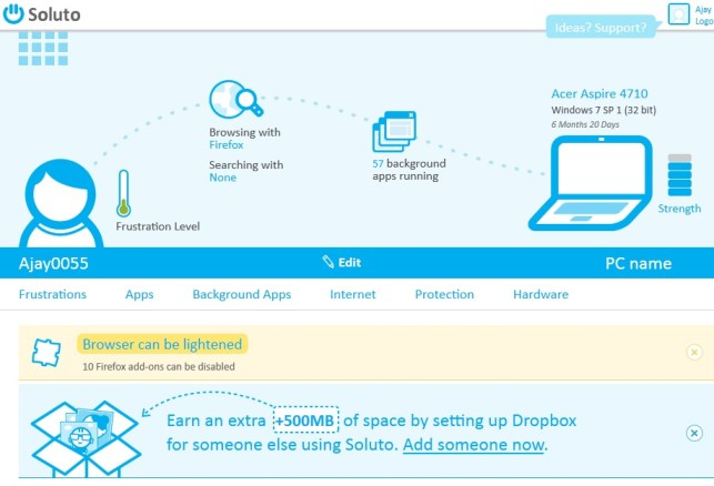 Soluto Home Page