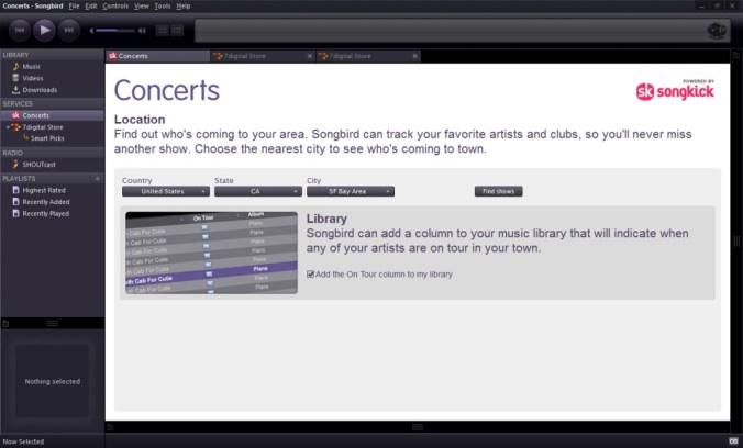SongBird Concerts