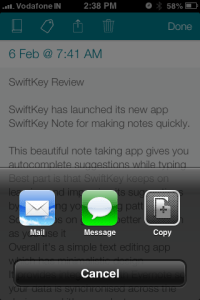 SwiftKey Note App For iPhone Comes With Smart AutoCorrect -