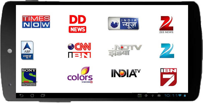 Watch Indian Hindi TV channels on Tablet and mobile phone -