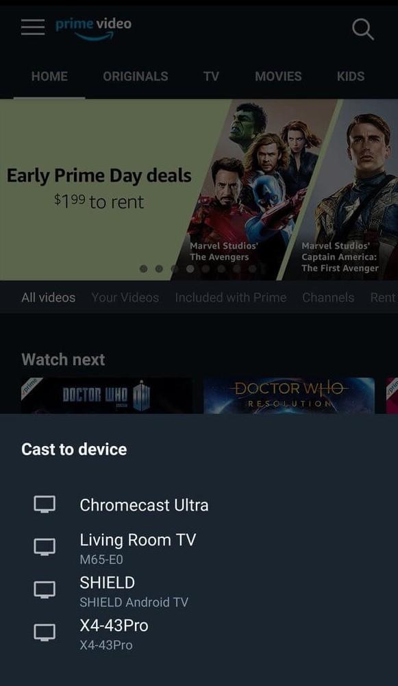 Chromecast Prime Video