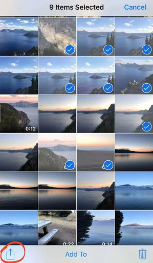 Select the Photos on Mac