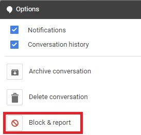 Block or Unblock on Google Hangouts
