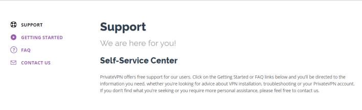 PrivateVPN support