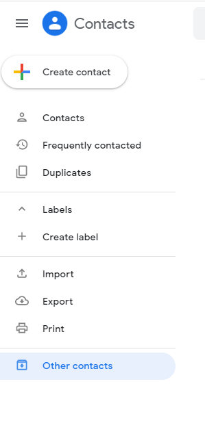 Import your Contacts to Google