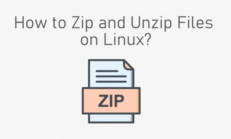 zip and unzip files on Linux