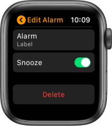 Delete Alarms on Apple Watch