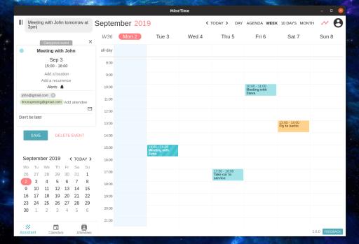 MineTime - Best Calendar Apps for Linux