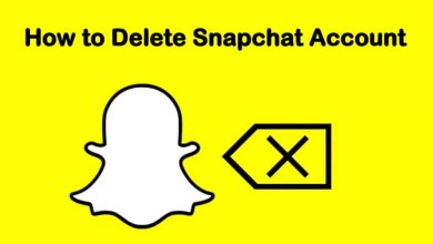 delete snapchat account