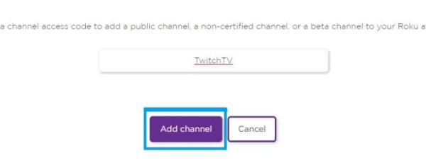 Select Add Channel