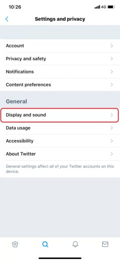 Display and Sound - How to Enable Twitter Dark Mode