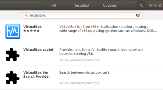VirtualBox on Ubuntu Using Software Manager