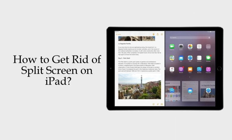 Get Rid of Split Screen on iPad