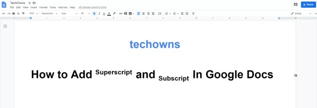 How to Superscript and Subscript In Google Docs [25 Easy Ways