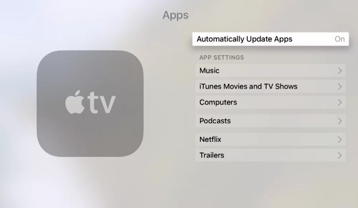 Update Apps on Apple TV Automatically