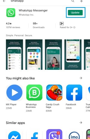 Update WhatsApp on Android